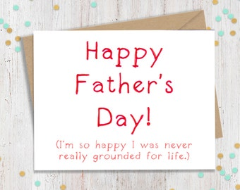 Fathers Day Card, Funny Card for Dad, Funny Card for Father, Card for Dad, Fathers Day Gift, Gift for Dad, Handmade Card
