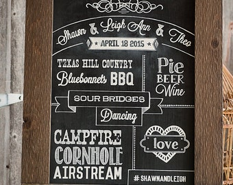 REAL Custom Chalkboard sign for Wedding/Party/Events