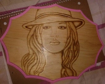 Britney Spears wood plaque