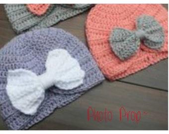 Crochet Baby Turban with Bow
