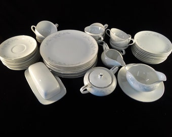 Royalton China Co Set of 39 Translucent Porcelain Dishes in Eg3301 Pattern