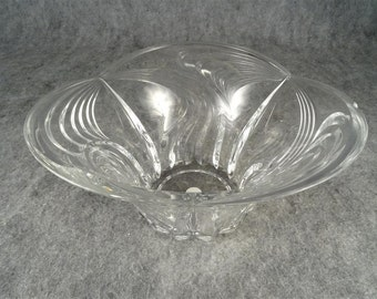 "Vintage Block Crystal Horizon Heavy 10"" Bowl"
