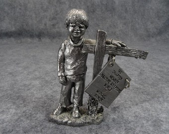 Michael Ricker ' Michael ' Figurine Circa 1980's
