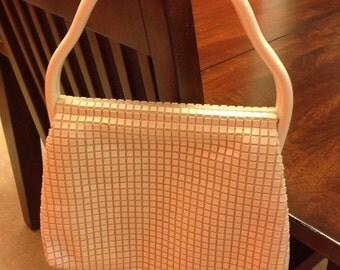 Mod white top handle bag