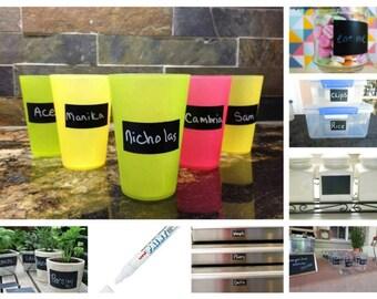 200  Blackboard Chalk Labels  + 1 FREE  White Marker Pen,   CHALKBOARD   VINYL   Sticker   Labels  Australia.. Fast postage