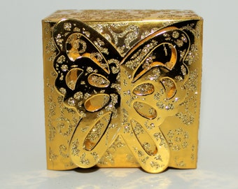 10-50 Sparkly Butterfly Favor Boxes