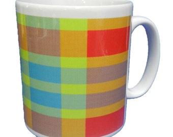 Car Rug / Tartan Design Mug