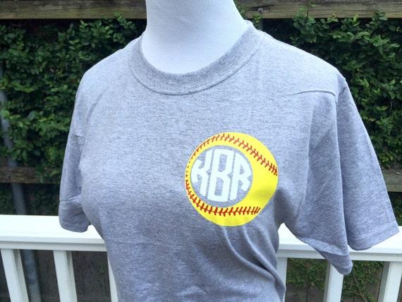 Softball Monogram T-Shirt - You Pick the Colors