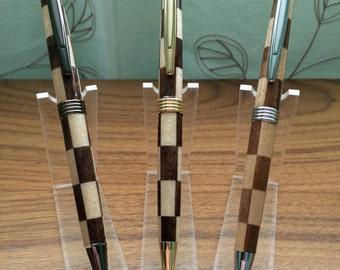 Maple & Walnut checkered -streamline pen FT