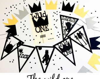 The Wild One Banner, Personalized Name, birthday, baby shower, the wild one party