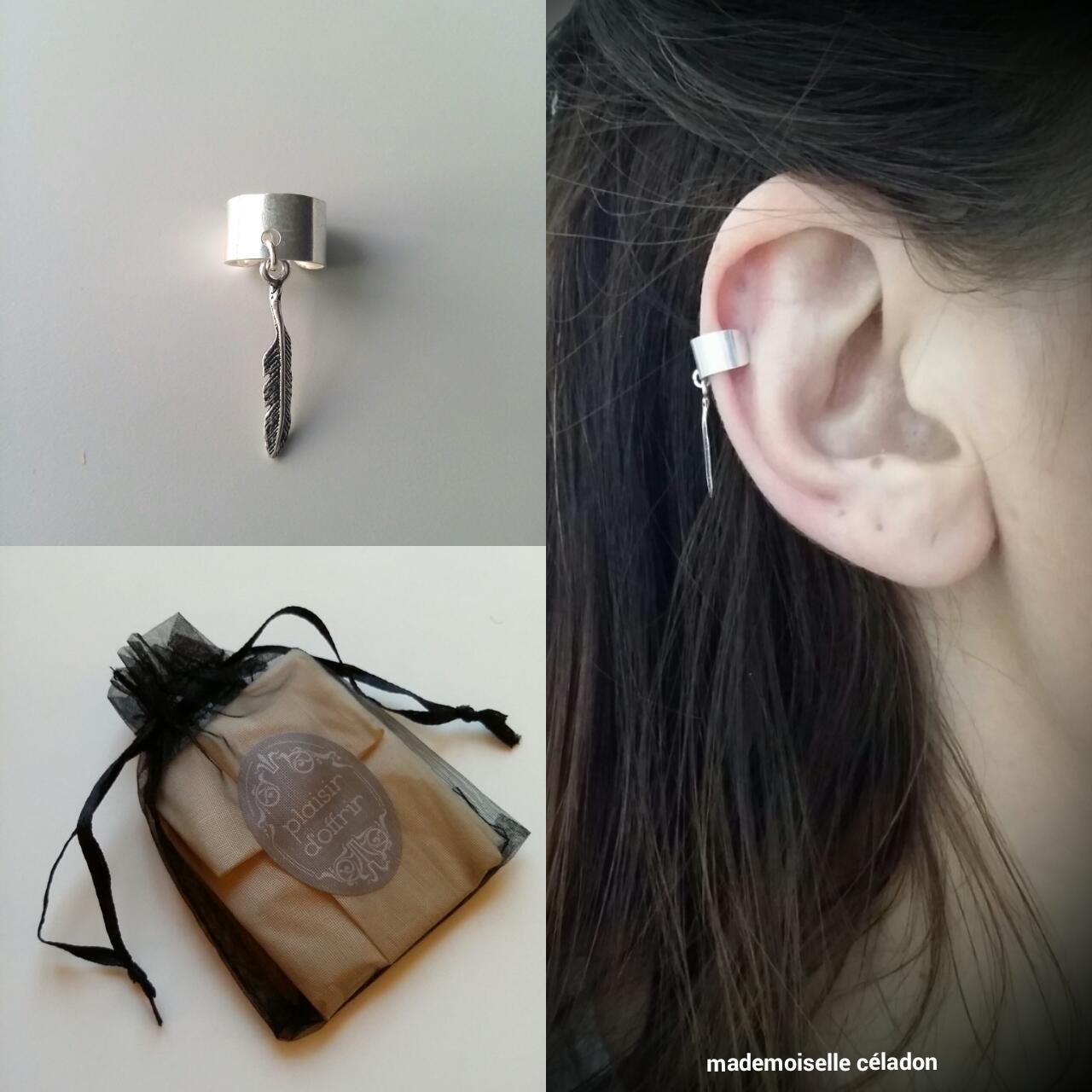 boucle d 39 oreille cartilage argent 925 sans per age. Black Bedroom Furniture Sets. Home Design Ideas