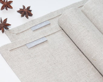 Elegant linen Placemats, Fabric Placemats, Gray Placemats, Cloth Placemats, Table Placemats, Table Linens, dinning placemats.