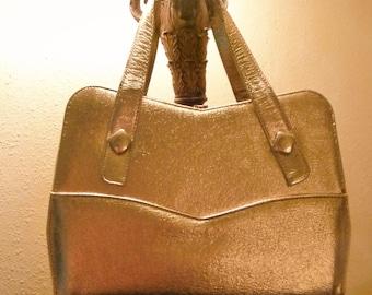 Vintage Gold Leather Berne purse