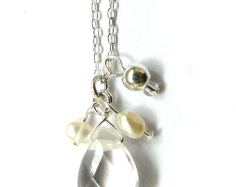 Quartz Freshwater Pearl Necklace