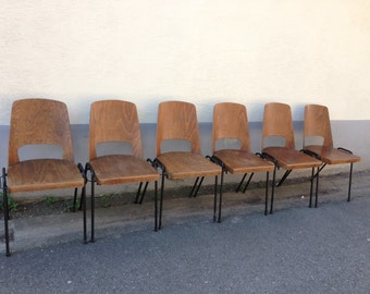6 Baumann Vintage barrel chairs