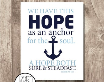 Printable Bible Verse Hebrews 6:19