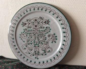Decorative plate ceramic / Vallauris / 50s