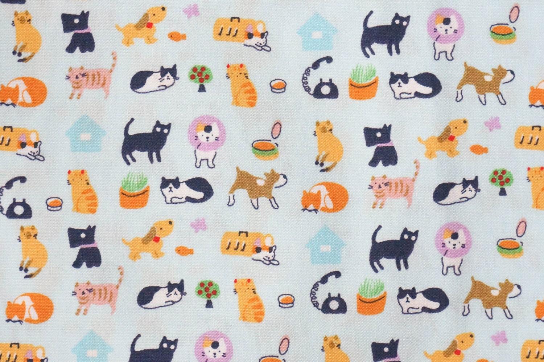 Cat dog cotton fabric bone footprint animal cute baby for Cute baby fabric