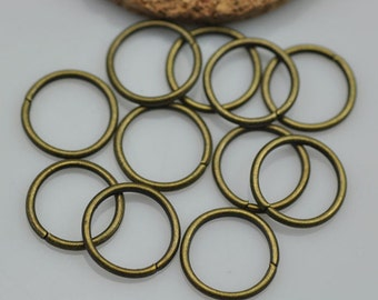 50 pc - 12mm Bronze Jump Rings / Open Jump rings Bracelet Charm Connector Jewelery Making Jewelry Findings