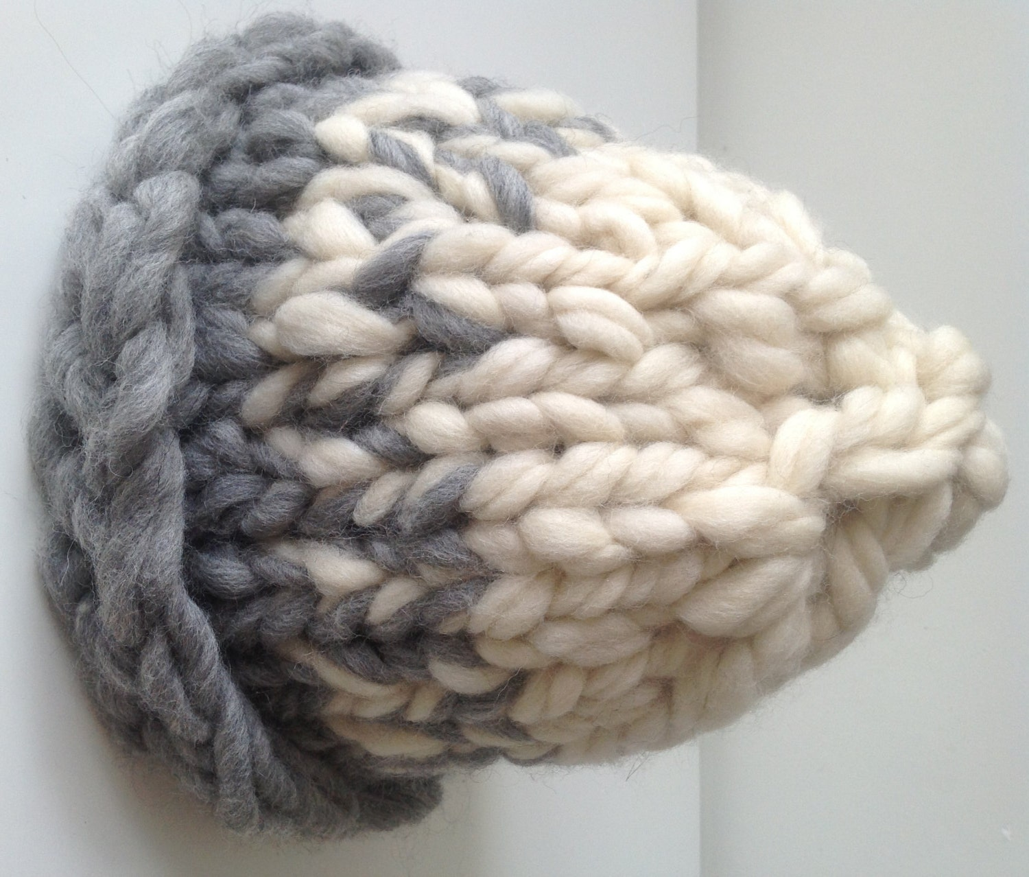 chunky beanie super chunky yarn hat super chunky knit hat. Black Bedroom Furniture Sets. Home Design Ideas