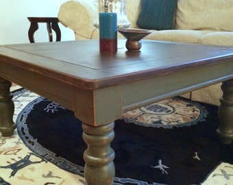 SOLD**** Solid pine reclaimed style wood coffee table