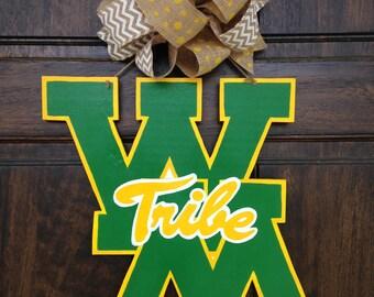 William and Mary Wooden Door Decor
