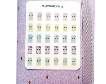 Kawaii phones Sticker Sheet