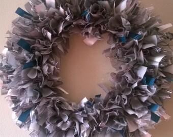 Shades of Gray Ribbon Wreath - SALE