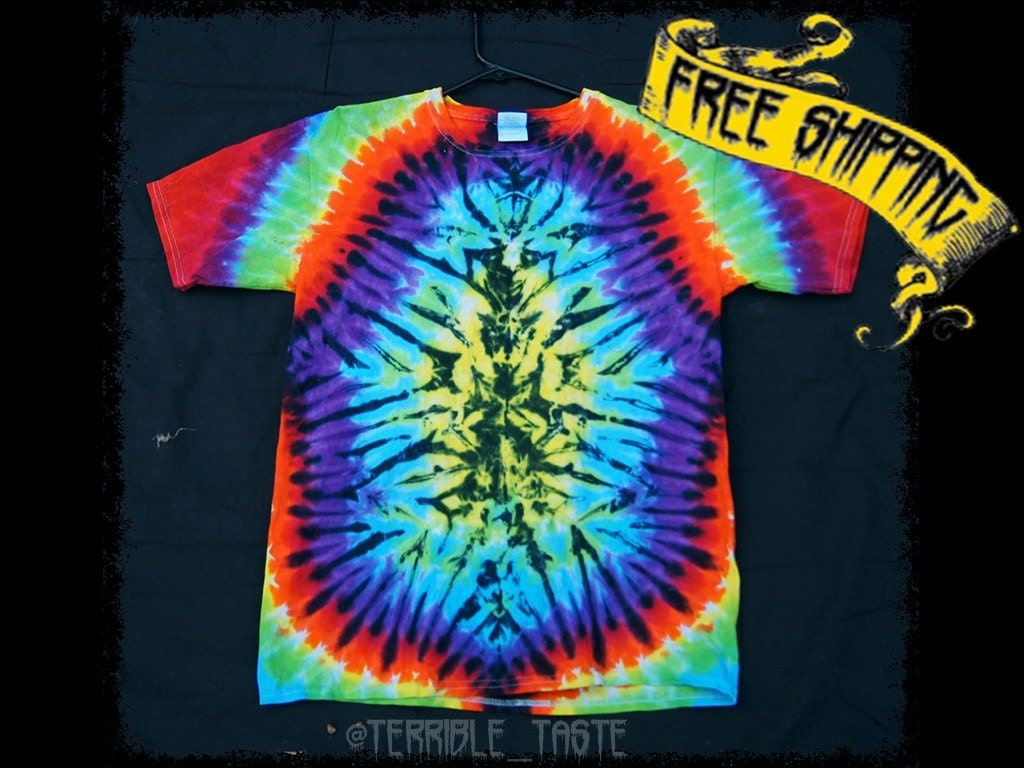 Httpwww Overlordsofchaos Comhtmlorigin Of The Word Jew Html: Tie Dye T-Shirt Rainbow Shirt Hippie Wear Bright