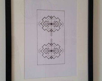 Geometry Dotwork Modern Wall Art Shevitsa