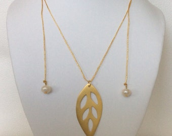 24k Yellow Gold Plated Leaf