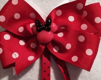Red Polka Dot Hair Bow