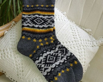 knitted wool socks multicolors