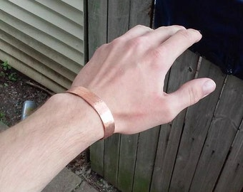 Hand forged copper bracelet