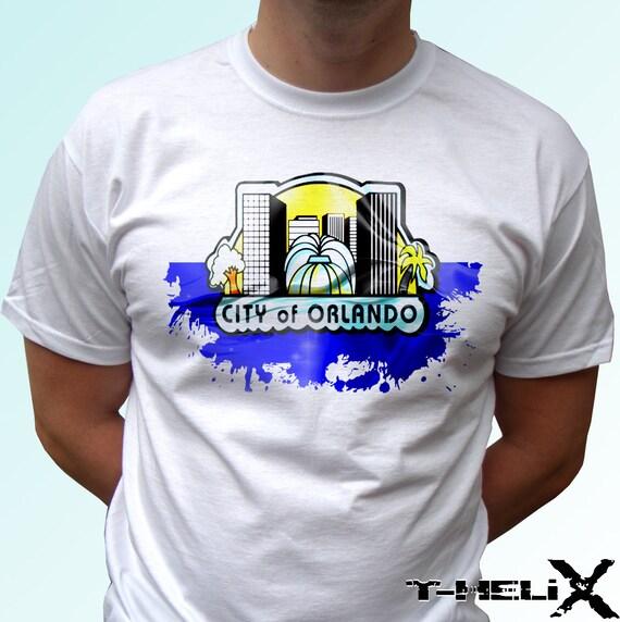 orlando new white t shirt us city florida print design 100