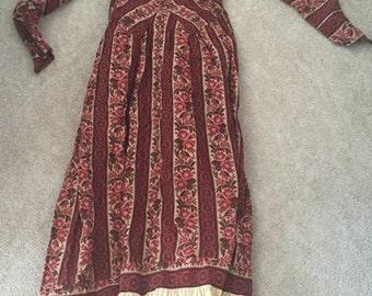 Maroon Flowered Dress
