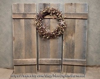 BARN WOOD SHUTTERS Wall Mount ShuttersWindow ShuttersRustic