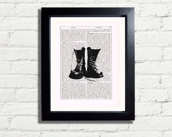 Dr Martin Boots Alternative Wall Art Print Picture Poster INSTANT DIGITAL DOWNLOAD A4 Printable Pdf Jpeg Image Home Decor Gift Idea