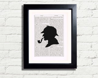 Sherlock Holmes Classic English Gentleman Wall Hanging, Art Print INSTANT DIGITAL DOWNLOAD A4 Printable Pdf Image fun Artwork Ideal  Gift