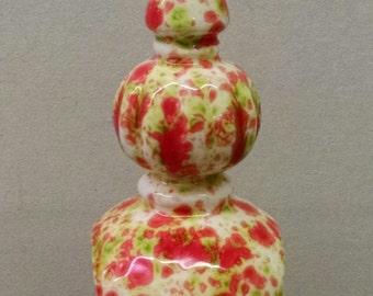 "Noel 9"" Fennel--Hand-Painted--Glazed Fired--Ceramic Bisque--Home-Patio-Garden Decor--Seasonal-Year Round Usage"