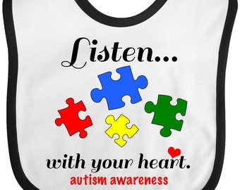 Autism Awareness Baby Bib by Inktastic