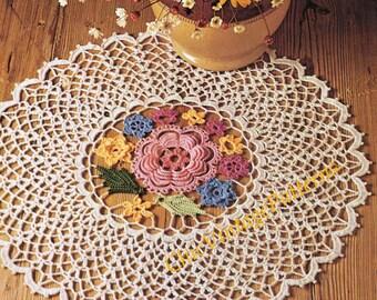 Crochet Doily ... Vintage PDF CROCHET PATTERN ... A Very Pretty Irish Crochet Doily ... Instant Download Pattern