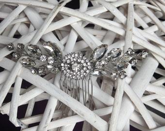 Delicate diamante hair comb, bridal hair comb, wedding hair comb, bridal headpiece, bridal accessories, sparkling hair comb