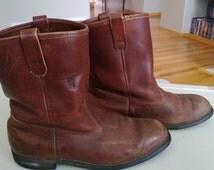 Vintage Mason Western Boots Size 10 Vibram Soles Free Shipping