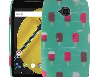 Moto E Case (2nd Gen), Moto E2 Case, Mintscicle TPU Silicone Skin Phone Case Cover