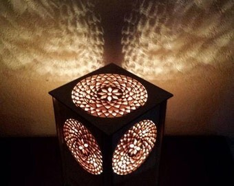 Free shipping, Table lamp, Desk lamp, laser cut lamp , night light , lantern, lighting