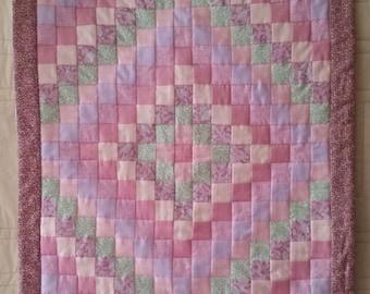 Handmade Trip Around the World Mini Quilt