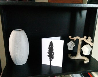 Hand Printed Tree Silhouette Card (blank inside)