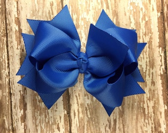 Royal hair bow