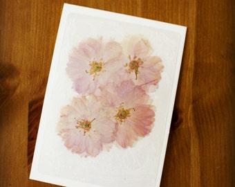 Handmade Cherry Blossom Postcards
